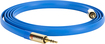 Griffin Technology - Gold Series Premium 6' Flat Auxiliary Audio Cable - Blue