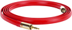 Griffin Technology - Gold Series Premium 6' Flat Auxiliary Audio Cable - Red