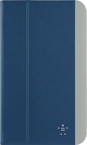 Belkin - Slim Style Cover for Samsung Galaxy Tab 4 8.0 - Dark Blue/Gray