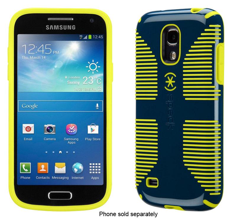 Speck - CandyShell Grip Case for Samsung Galaxy S 4 Mini Cell Phones - Deep Sea Blue/Lemongrass Yellow