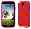 Speck - CandyShell Grip Case for Samsung Galaxy S 4 Cell Phones - Poppy/Fuchsia