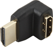 Dynex™ - Right-Angle Male HDMI-to-Female HDMI Adapter - Black