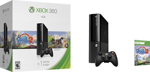 Microsoft - Xbox 360 4GB Console Peggle 2 Bundle - Black