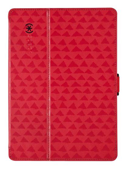 Speck - StyleFolio Case for Apple® iPad® Air - ValleyVista Red/Dark Poppy/Black