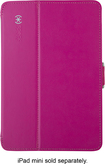 Speck - StyleFolio Case for Apple® iPad® mini and iPad mini with Retina display - Fuchsia Pink/Nickel Gray