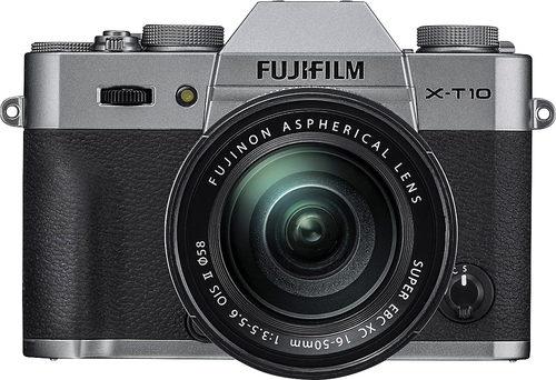 Fujifilm - X-T10 Mirrorless Camera with XC 16-50mm f/3.5-5.6 OIS II Lens - Silver