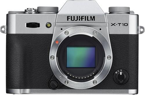 Fujifilm - X-T10 Mirrorless Camera (Body Only) - Silver