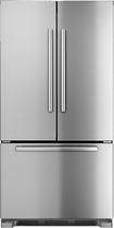 Bosch - 21.8 Cu. Ft. Frost-Free Counter-Depth French Door Refrigerator - Stainless-Steel