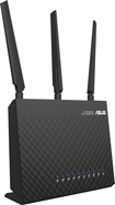 Asus - WirelessAC1900 Dual-Band Gigabit Wireless Router - Black