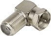 Dynex™ - F Male-to-F Female Right-Angle Coaxial Adapter - Silver