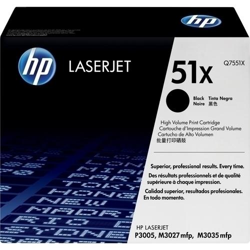 HP - Laser Jet Toner Q7551X Black Toner Cartridge for P3005 - Black