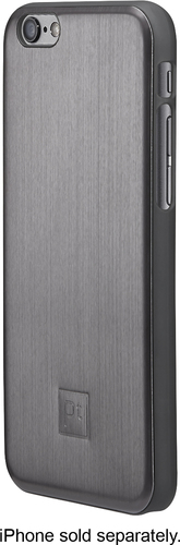 Platinum - Brushed Metal Case for Apple® iPhone® 6 - Gunmetal
