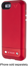 Vysk - EP1 Privacy Battery Charger Case for Apple® iPhone® 5 and 5s - Red