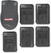DigiPower - World Travel Charger for Select Panasonic, Casio, Fuji, and HP Digital Camera Batteries - Black