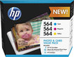 HP - 564 3-Pack Ink Cartridges - Cyan/Magenta/Yellow