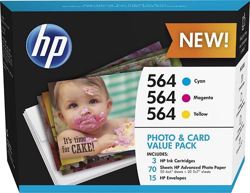 HP - 564 3-Pack Cyan/Magenta/Yellow Original Ink Cartridges - Cyan/Magenta/Yellow