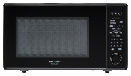 Sharp - 1.8 Cu. Ft. Family-Size Microwave - Black