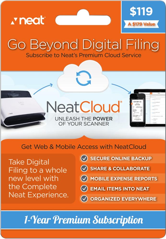 Neat - NeatCloud Premium Cloud Service 1-Year Prepaid Card - Multi