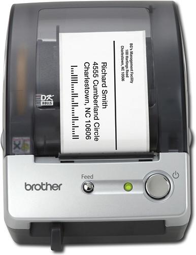 Brother - Label Printer - Black/Silver