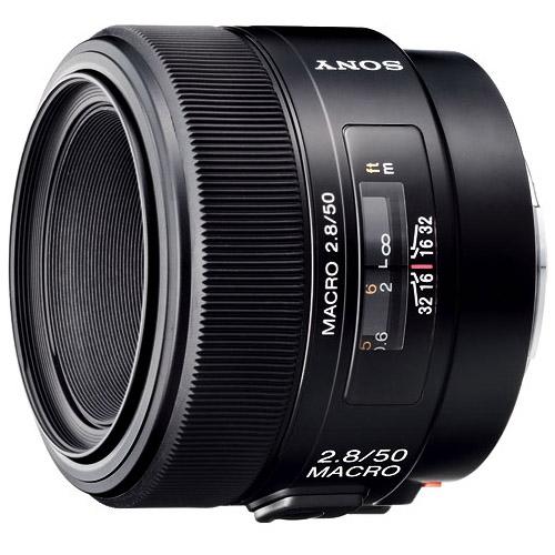 Sony - 50mm f/2.8 Macro A-Mount Lens - Black