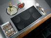 "GE Appliance - Profile 36"" Electric Induction Cooktop - Stainless"