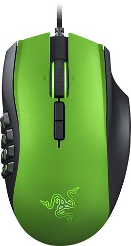 Razer - Naga MMO Laser Gaming Mouse - Limited Edition Green