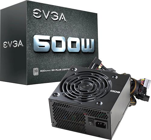 Evga - 80 Plus 600W ATX 12V/EPS 12V Power Supply - Black