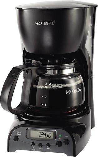 Mr. Coffee - 4-Cup Programmable Coffeemaker - Black