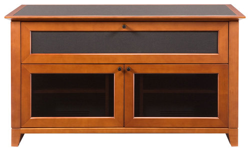 BDI - Novia A/V Cabinet for Most Flat-Panel TVs Up to 55 - Cherry