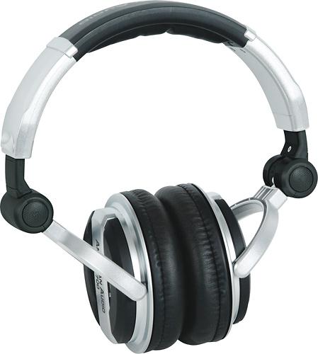 American Audio - Professional High-Powered DJ Headphones - Black/Silver