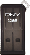 PNY - Micro Sleek Attaché 32GB USB 2.0 Flash Drive - Gray