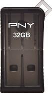 PNY - Micro Sleek Attaché 32GB USB 2.0 Flash Drive - Gray