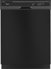 "Whirlpool - 24"" Built-In Dishwasher - Black"