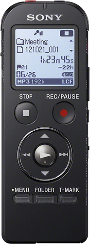 Sony - Digital Voice Recorder - Black