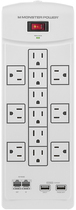Monster - Core Power 1200 USB 12-Outlet Surge Protector