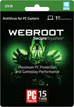 Webroot SecureAnywhere AntiVirus for PC Gamers (1-User) (1-Year Subscription) - Windows