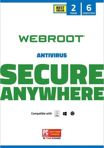 Webroot secureanywhere antivirus 2018 (3-device) (1-year.