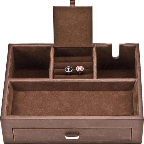 Grand Star Deluxe Valet Tray and Charging Station
