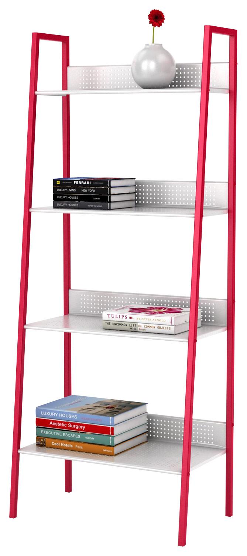 Atlantic - 4-Tier Angled Ladder Shelving - Red