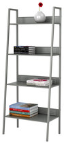 Atlantic - 4-Tier Angled Ladder Shelving - Silver