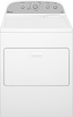 Whirlpool - 7.0 Cu. Ft. 13-Cycle Steam Electric Dryer - White