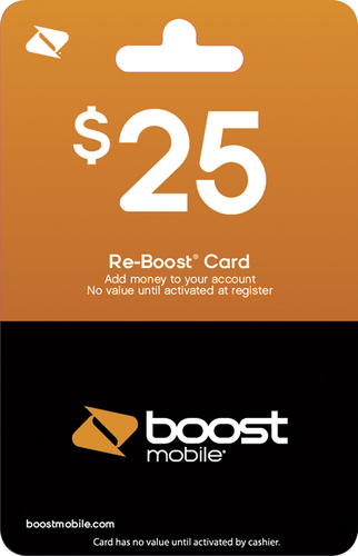 Boost Mobile - $25 Re-Boost Prepaid Phone Card