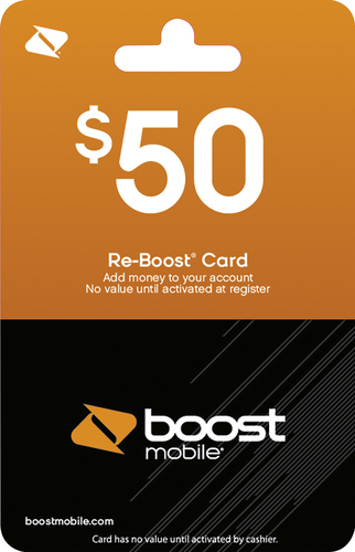 Boost Mobile - $50 Re-Boost Prepaid Phone Card
