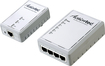 Actiontec - Powerline Ethernet Adapter and 4-Port Hub - White