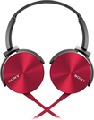 Sony - Lightweight On-Ear Headband Headset - Red