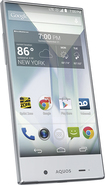 Sharp - Aquos Cell Phone - Crystal White (Sprint)