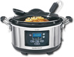 Hamilton Beach - Set & Forget Stay or Go 6-Quart Slow Cooker - Stainless-Steel