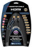 Monster - Black Platinum Ultimate 9' In-Wall HDMI Cable - Black