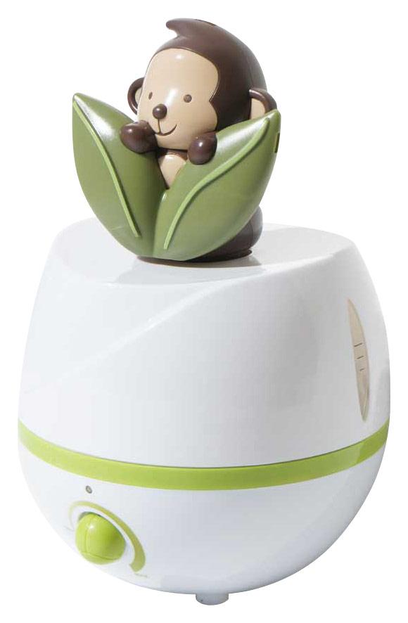 SPT - Adorable Monkey 0.66 Gal. Ultrasonic Cool Mist Humidifier - Green/White