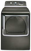 GE - 7.8 Cu. Ft. 14-Cycle Steam Electric Dryer - Metallic Carbon